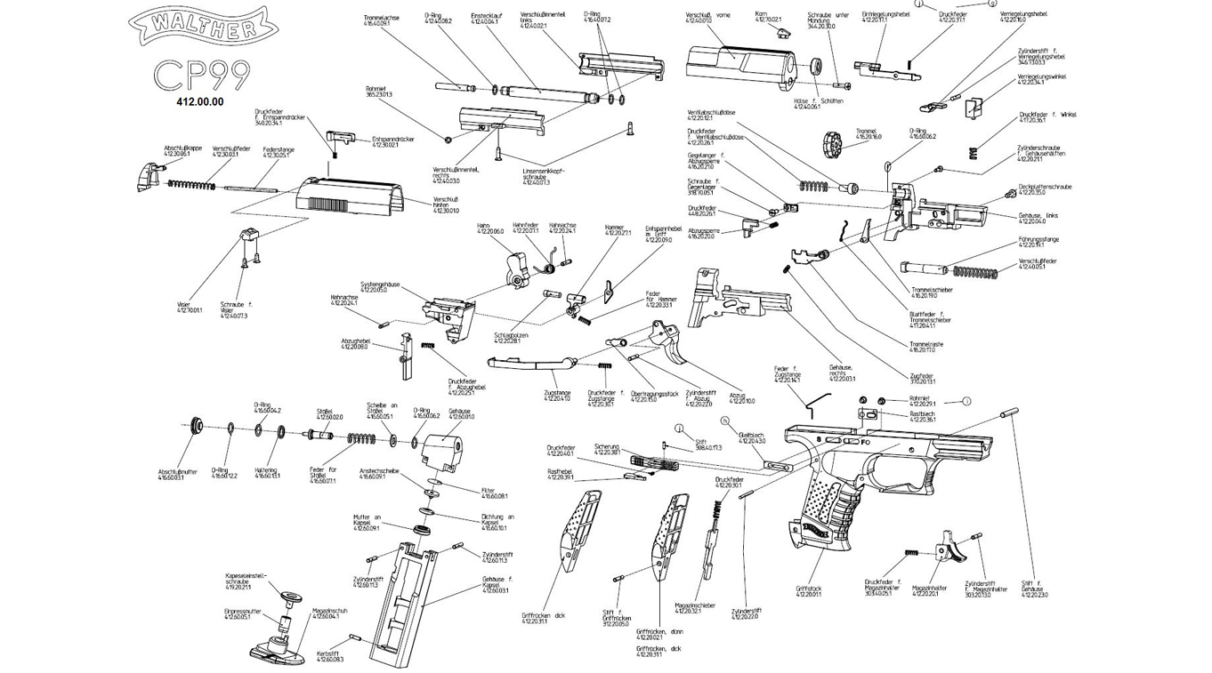 Walther P22 Parts Diagram - Technical Diagrams on